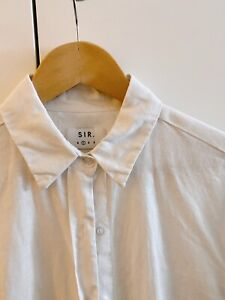 Sir The Label White Linen Shirt   Size 1