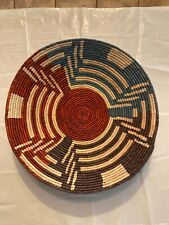 New ListingHand Woven SouthWestern shallow bowl Baskets, approx. 13in Wide, 2-4in Deep