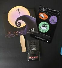 Nightmare Before Christmas Monopoly Pin SDCC D23 Fabric Sticker & Fan Promo Expo