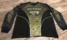 PROTO Protective Paintball Wear Jersey Adult Large L Black Green Mens
