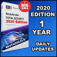 BITDEFENDER TOTAL SECURITY 2020 - 1 YEARS ACTIVATION - DOWNLOAD