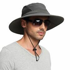 EINSKEY Sun Hat Unisex UV Protection Wide Brim Fishing Hiking Camping Dark Grey
