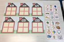 Alphabet House Game - Beginning Sounds - Learning Center M, N, O, P, Q & R