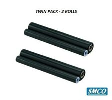 More details for 2 rolls brother t106 printer thermal fax ribbon film best compatible by smco
