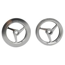 Hot Racing HOR51308 1/8 Kyosho Motorcycle Silver Aluminum 3-Spoke Wheel Set