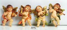 Set 4 angeli suonatori in resina da appendere cm 16 by Paben