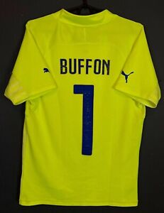 PUMA MEN'S ITALY 2014/2015 ITALIA BUFFON #1 SOCCER FOOTBALL SHIRT JERSEY SIZE S