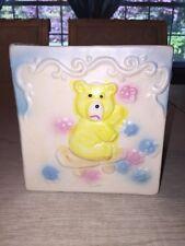 Vintage Nancy Pew Giftware Ceramic Baby Block Planter