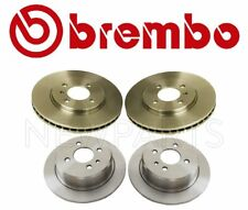 For BMW E30 3-Series Set of Two Front & Two Rear Brake Disc Rotors Brembo OEM