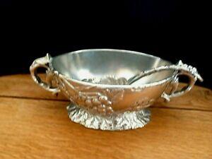 Arthur Court Grape Design Gravy Bowl Matching Ladle Vtg 1997