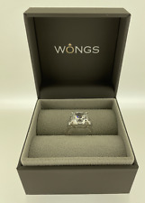 Carat London 9ct White Gold Trilogy Ring with Cubic Zirconia