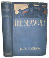THE SEA WOLF, by JACK LONDON, 1904, 1st Edition, 3rd Print, ILLUSTRATED AYLWARD
