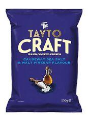 TAYTO CRAFT CRISPS GIANTS CAUSEWAY SALT AND MALT VINEGAR IRISH POTATO CHIPS