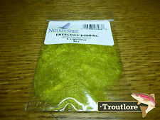 NATURES SPIRIT LIGHT OLIVE EMERGENCE ANTRON DUBBING NEW FLY TYING MATERIAL