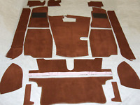 MGB ROADSTER & MGB GT CARPET SET BROWN CARRELLI WITH HESSIAN BACKING & FELT KIT