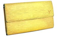 Auth LOUIS VUITTON Yellow Epi Leather Portefeuille Long Wallet Purse Spain Used