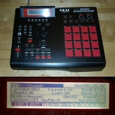CUSTOM Akai MPC 2000XL Black w/RED LEDs/PADS 1GB CF Drive 32MB RAM