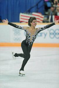 OLD LARGE FIGURE SKATING PHOTO, USA Olympic great Debi Thomas No 7