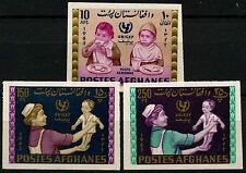 Afghanistan 1963/1964 UNICEF, Children MNH Imperf Set Of 3 #D33273
