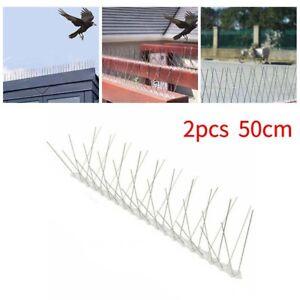2X Deterrent Anti Birds Spikes 50cm Outdoor Wall Pigeon Control Tools Repellent