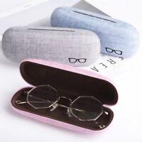 Fashion Hard Linen Eye Glasses Case Sunglass Protector Eyewear Storage Box GIFT