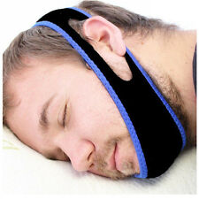Adjustable Anti Snoring Chin Strap Jaw Sleep Aid Snore Apnea Fix Support Belt