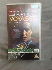 More details for star trek robert beltran autograph/signed vhs