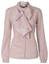 Bluse mit Schluppe - Gr. 40/42 - rot weiß - Tunika - Longshirt - 3 Suisses