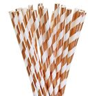12 PC Metallic Rose Gold and White Cake Pop Straws | Bakell®