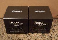 NEW BOXED PHILOSOPHY HOPE IN A JAR NIGHT MOISTURIZING CREAM 4 OZ 2x 2 OZ JARS