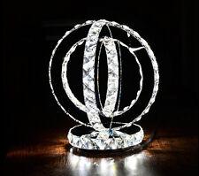 LUXURY two Round LED Crystal table Lamp Diamond Ring Desk Lighting