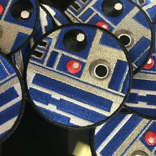 "R2d2 Patch Star Wars Patchwizard Metallic Thread 3"" Sew On New"