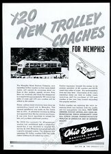 1946 Memphis Tennessee Street Railway trolley coach photo Ohio Brass print ad