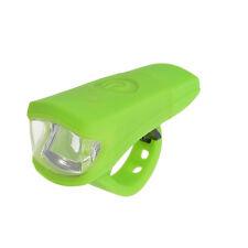 ROCKBROS USB Recargable Bicicleta MTB Gel de sílice delantero luz verde a prueba de agua