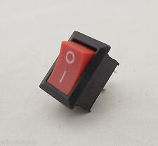 1pcs Rocker Switch ON/OFF Red Cap 2 Pins Single Way 6A 10A KCD-101 21x15mm New