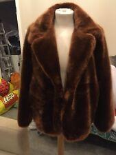 Mesdames Ella court en cuir peau de mouton veste-brique