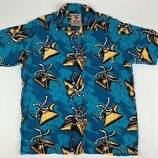 Mambo Loud Shirt Mens Medium Aussie Backyard Raining Garden Sprinklers