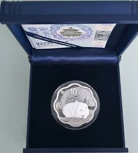 """MDS CHINA 10 YUAN 2019 PP / PROOF """"LUNAR - YEAR OF THE PIG"""", SILBER"""