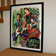 Green Day, Billie Joe Armstrong, Mike Dirnt, Tre Cool, Guitar, Punk 18x24 POSTER