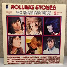 Rolling Stones 30 Greatest Hits 2 LP's Vntage Vinyl Italy 1977 NM
