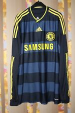 CHELSEA 2009 2010 AWAY FOOTBALL SHIRT JERSEY MATCH WORN ISSUE #14  LONG SLEEVE