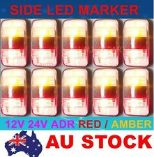 10X 12V Red Amber Side LED Marker Tail Light Lamp Clearance Trailer ADR AU STOCK