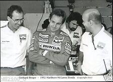 course automobile. Formule 1. Gerhard Berger .1992