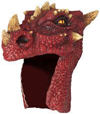 HORNED DRAGON ANIMAL HEAD HELMET MASK LATEX HALLOWEEN ROLE PLAY