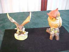 2 Royal Heritage Collection Porcelain Owl Figurines