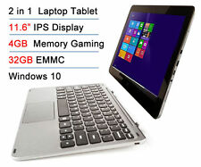 "Intel Z8300 11.6"" IPS 4GB RAM 32GB EMM Tchscreen 2-in-1 Windows 10 Laptop Tablet"