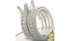 3.65CT Round Princess Diamond Semi Mount Bridal Wedding Set 18K White Gold Ring