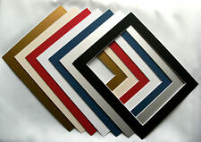 """Square Photo / Picture Mounts for frame size 9"""" x 9"""" various sizes/colours"""