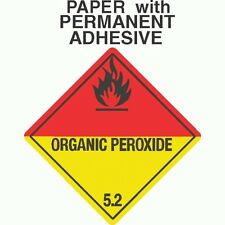 L-313 Organic Peroxide Class 5.2 Paper Labels D.O.T. 4X4 (ROLL OF 500)