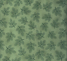 tt ~ quilt cotton ~ sketched green leaves ~ c6899 ~ bty